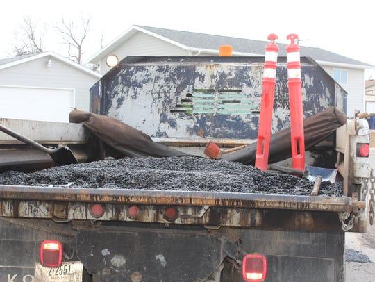 A Great Falls street maintenance crew spent a long