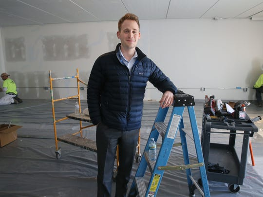 Cayle Drabinsky, the Bucks director of business operations, stands in the practice space that is being created for the Milwaukee Bucks new NBA 2K gaming team.