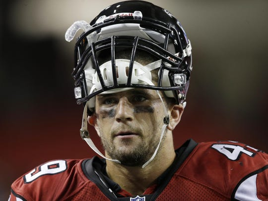 Paul Worrilow as a Falcons rookie in 2013.