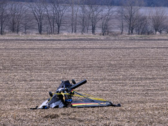 A small plane crashed into a field around 4 p.m. on NE 150th Ave and NE 104 St., about five miles south of Maxwell Thursday, April 5, 2018.