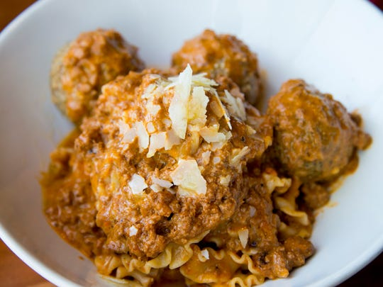Tomaso's Sicilian meatballs, with Sunday sugo (sauce