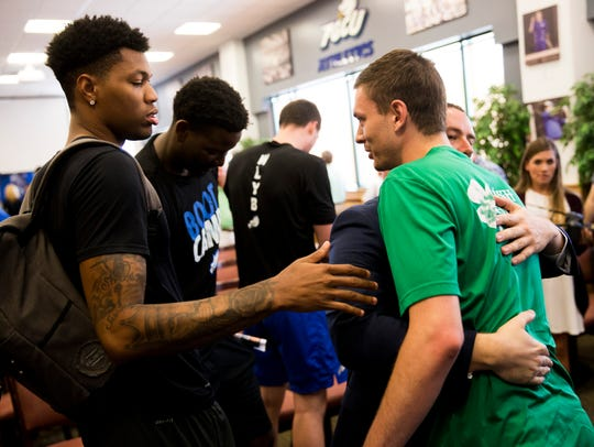 Although he was graduating, Christian Terrell was one of the happiest of Eagles when longtime assistant Michael Fly became the Eagles' new coach on April 5.