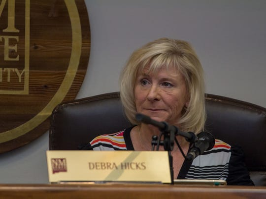 Board of Regents Chair Debra Hicks discusses her concerns about investments for the university at a special meeting on Friday, April 6, 2018. Hicks left the meeting before a vote on a tuition hike. The regents OK'd a 3.5 percent increase.
