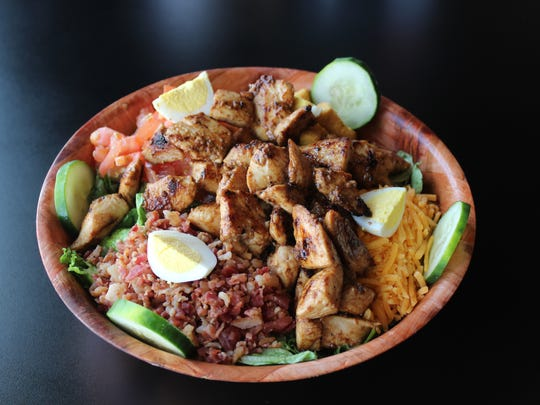 A grilled chicken salad at Daq's Wings & Grill in Shreveport.