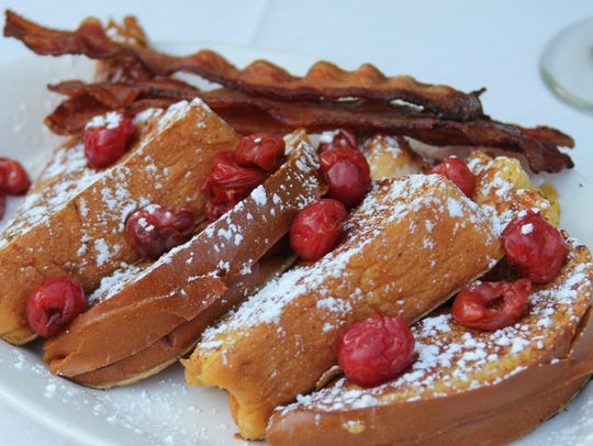 The White Gull Inn's cherry-stuffed French toast won