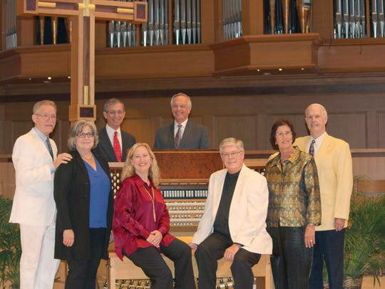 "Featured organists in the ""Many Moorings Organist concert"