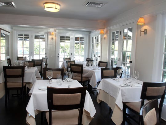The dining room at Restaurant North in Armonk. The