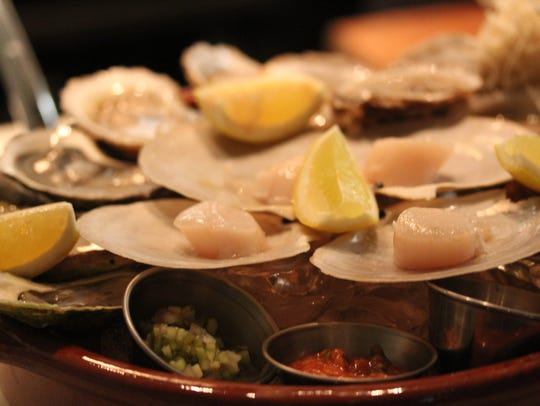 Fresh oysters at Tuck