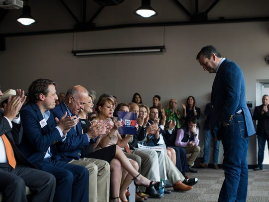 U.S. Sen. Ted Cruz speaks at a campaign event on Tuesday, April 3, 2018 at the Ortiz Center in Corpus Christi.