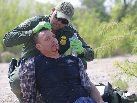 U. S. Border Patrol Sector Chief Aaron A. Hull and