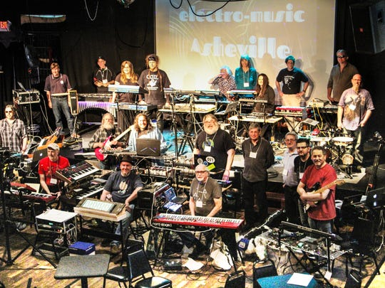 As was the case in this photo from last year's festival, all the musicians will set up their gear on stage before anyone plays.