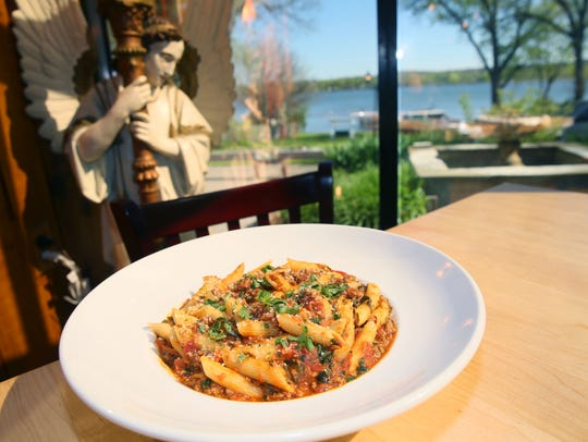 Ristorante Lago prides itself on serving up authentic Italian dishes like the penne cinghiale.
