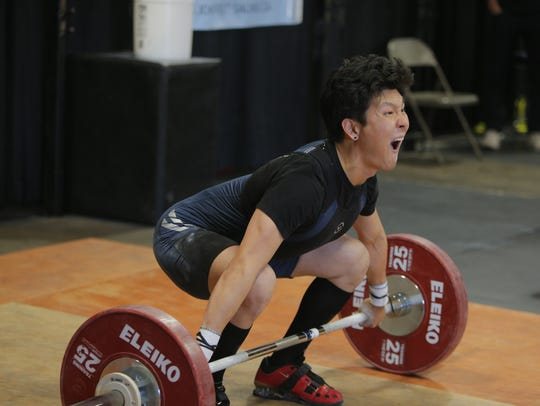 Weightlifters gathered to compete at the second annual