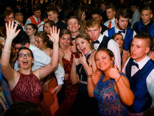 Students of Madison High School gather at The Crest Center & Pavillion to celebrate their prom on April 21, 2018.