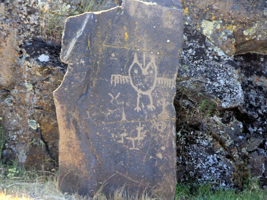Petroglyphs at Columbia Hills State Park.