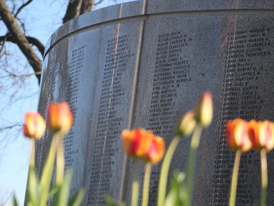 The Marion County World War II Veterans Memorial has
