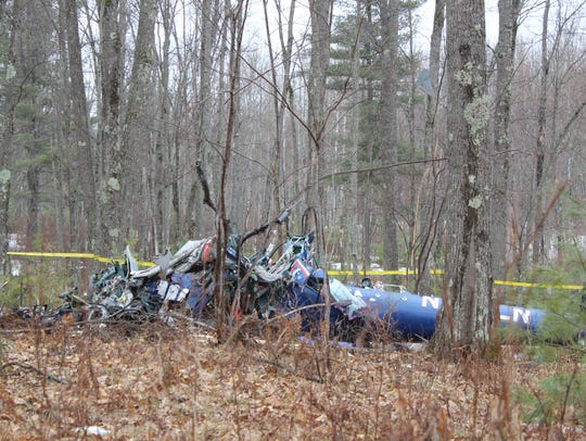 A helicopter crashed between 10 p.m. and 11 p.m. on
