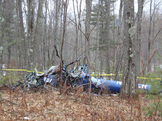 A helicopter crashed between 10 p.m. and 11 p.m. on April 26, in the woods near Hazelhurst.