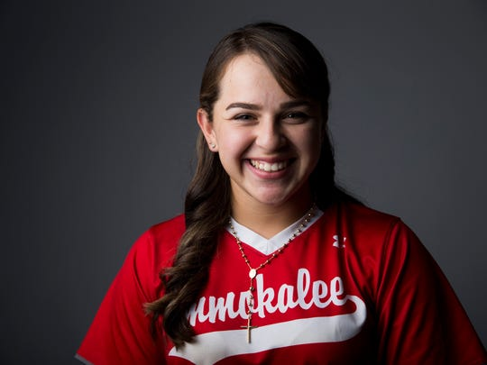 Immokalee softball player Mercedes Salinas.