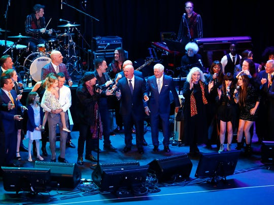 The grand finale of the 10th Anniversary Induction Ceremony of the New Jersey Hall of Fame at the Paramount Theater in Asbury Park. May 6, 2018.