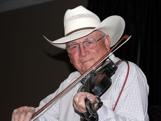 Joe Delk remembers when his father played for the Luna County Old-Timers' Reunion back in the late 1940s.