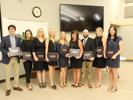 (From left) 2018 graduates of LSUA's paralegal studies