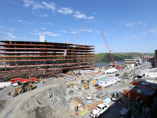Construction at Vassar Brothers Medical Center in the City of Poughkeepsie on May 8, 2018.