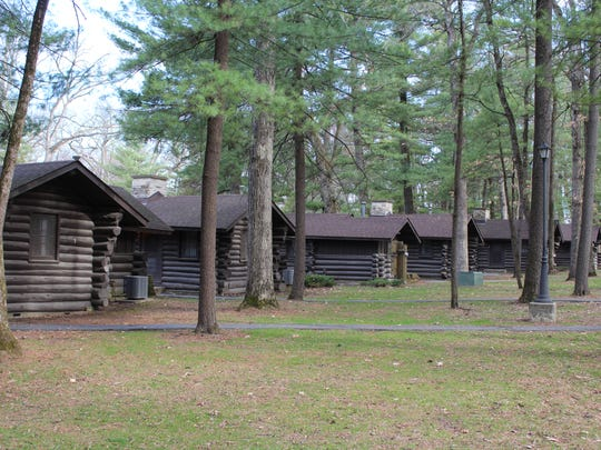 Cabins at White Pines Forest State Park were built