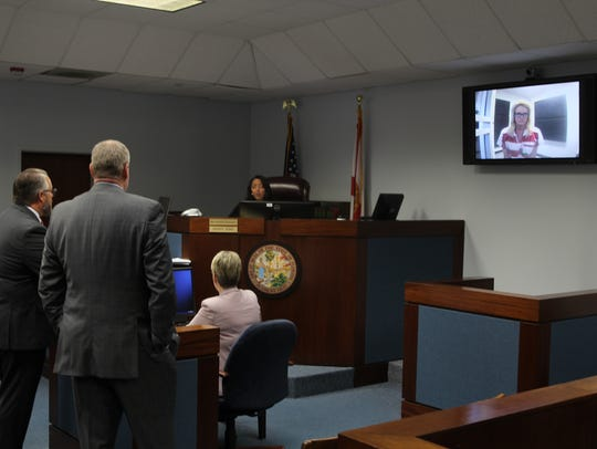 Denise Williams appears by teleconference before Leon