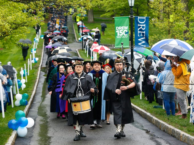 The processional for Drew University's 150th commencement