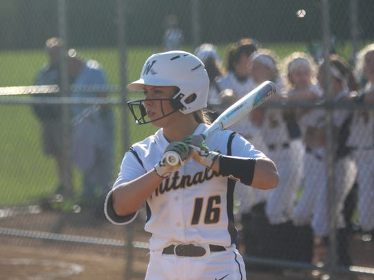 Whitnall's Haley Wynn looks for a signal from her coach