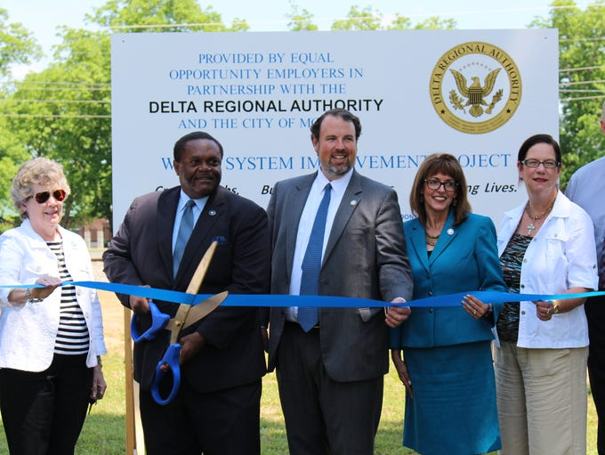 A ribbon cutting was held Tuesday to mark the completion