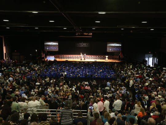 Students fill the Mid-Hudson Civic Center during Thursday's