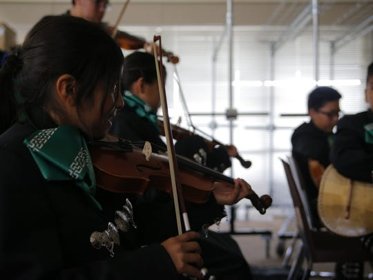 Mariachi Juvenil Alisal is a part of the migrant education program that meets three times a week.