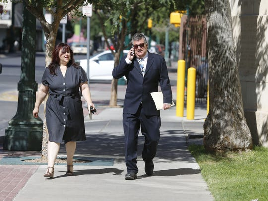"William ""Billy"" Abraham walks to a bankruptcy court"