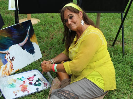 Meeting artists as they work is a great opportunity at the South Jersey Arts Fest.