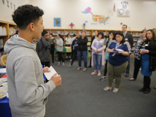 Students at Washington Middle School in Salinas presented their work at the Indigenous Cultures Fair.