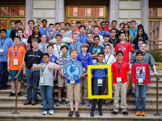 The 2018 National Geographic Bee State Finalists.