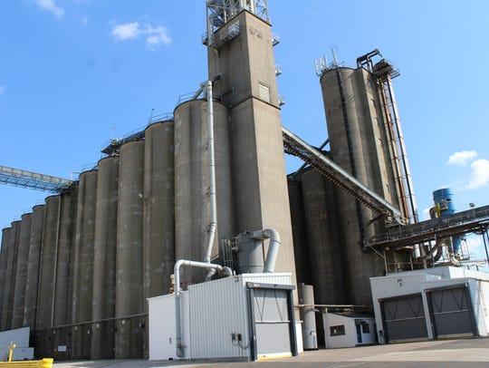 Gavilon's grain elevator in downtown Henderson has