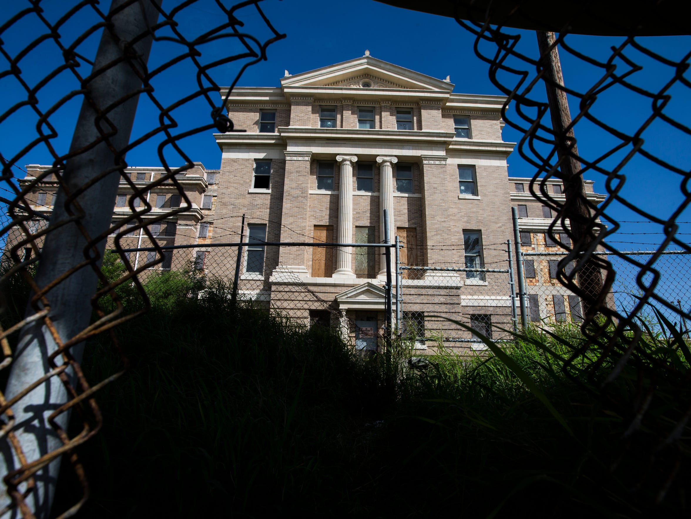 The former Nueces County Courthouse remains vacant.