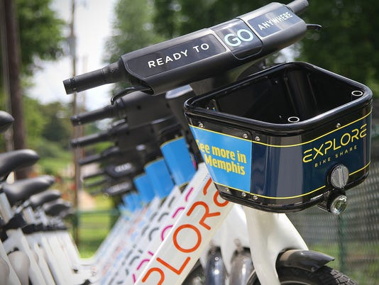 Explore Bike Share docking station