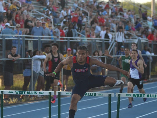Brookfield East's Abel Cunningham clears the final