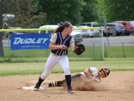 Susquehanna Valley second baseman Hannah Haskell gets