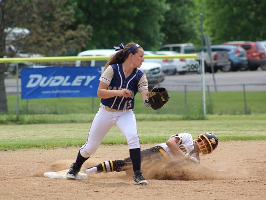 Susquehanna Valley second baseman Hannah Haskell gets
