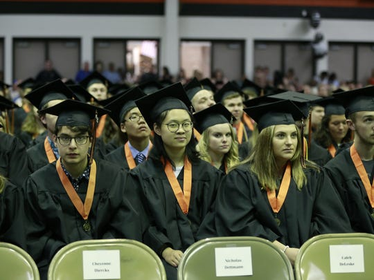 Marshfield High School held its 2018 graduation celebration