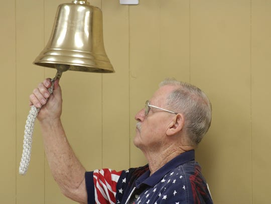 Vietnam veteran John Bladel rings a bell for each Grant