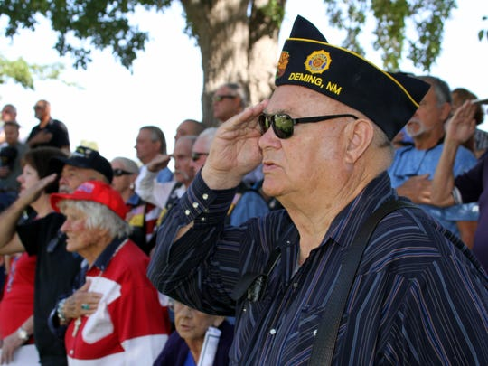 Veterans who attended the Memorial Day ceremony on