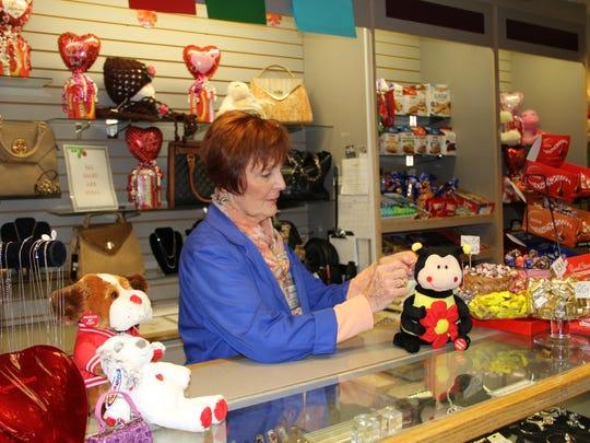 Elaine Gaughran helps out at Hunterdon Medical Center's