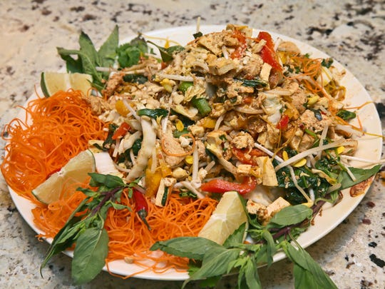 This low-carb pad Thai, as created by Rick Winter,