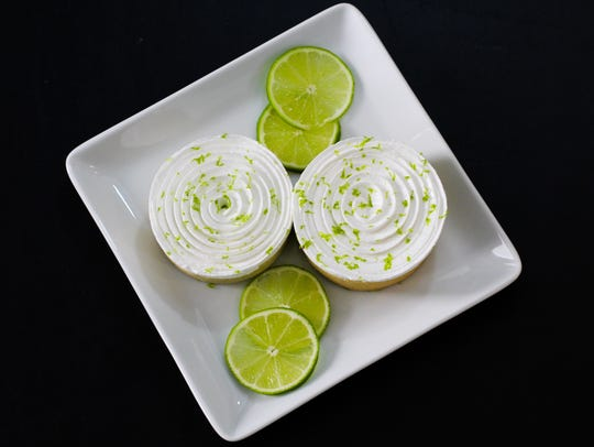 Kiwi-lime tarts are among the desserts that will be